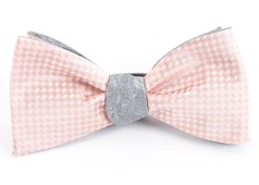 Bow Ties - Be Married Paisley - Blush Pink