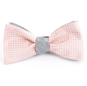 Blush Pink Be Married Paisley bow ties
