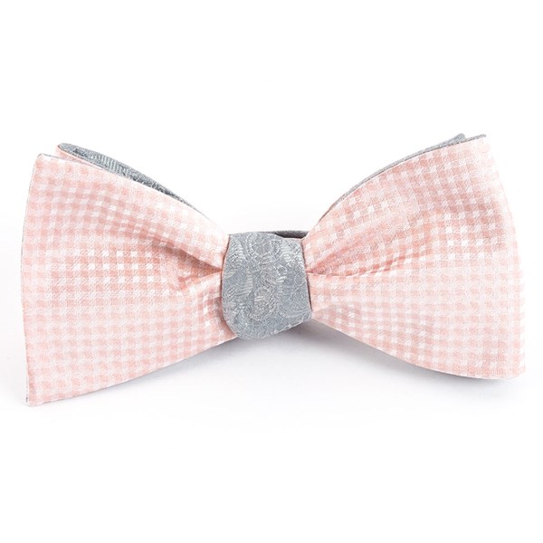 Blush Pink Be Married Paisley Bow Tie