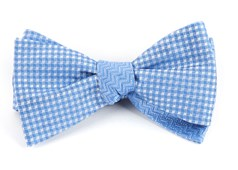 Bow Ties - Checks Dance - Light Blue