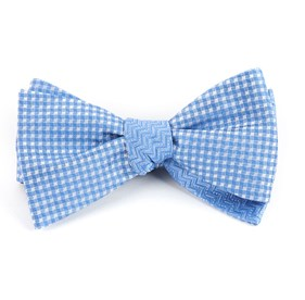 Checks Dance Light Blue Bow Ties
