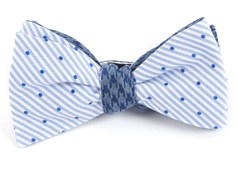 Bow Ties - Aisle Houndstooth - Blue