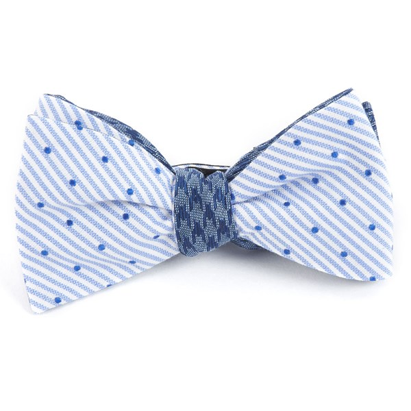 Blue Aisle Houndstooth Bow Tie