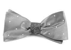 BOW TIES - SATIN CEREMONY - SILVER