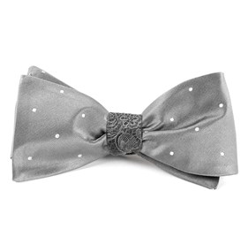 Satin Ceremony Silver Bow Ties