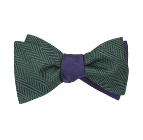 Hunter Green Verge Sound Wave bow ties