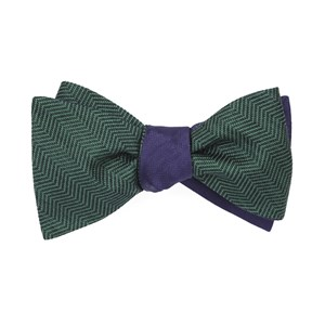 verge sound wave hunter green bow ties