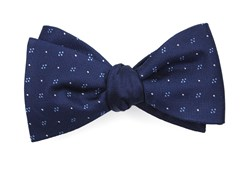 Bow Ties - Geo Herringbone - Navy