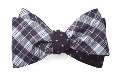 Bow Ties - Emerson Dots - Eggplant