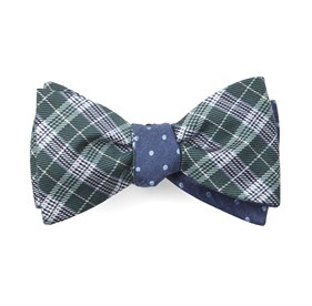Emerson Dots Hunter Green Bow Ties