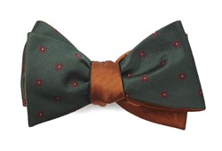 Bow Ties - Floral Wave Herringbone - Hunter Green