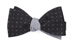 Bow Ties - Geo Herringbone - Black
