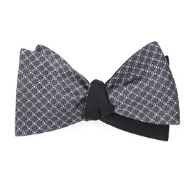 Grey Network Sound Wave bow ties