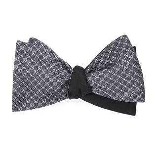 network sound wave grey bow ties