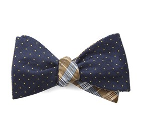 Navy Rivington Plaid bow ties