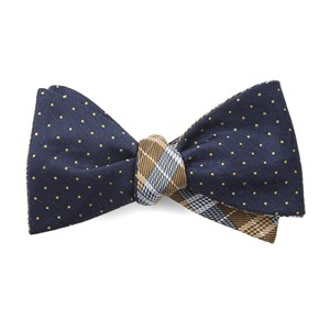 rivington plaid navy bow ties