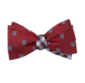 Red First String Plaid bow ties