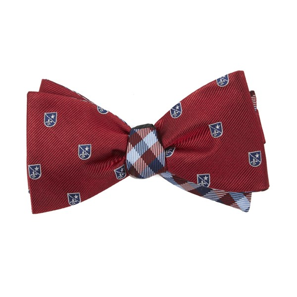 Red First String Plaid Bow Tie