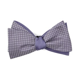 Be Married Herringbone Lavender Bow Ties
