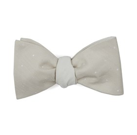 Light Champagne Bulletin Dot Row bow ties