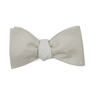 bulletin dot row light champagne bow ties