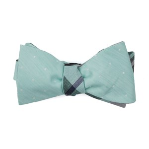 bulletin dot plaid spearmint bow ties