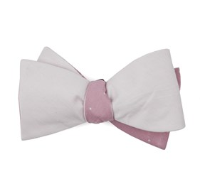 Linen Row Dot Blush Pink Bow Ties