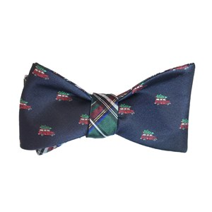 christmas vacation plaid navy bow ties