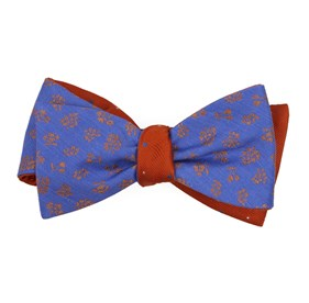 Periwinkle Fruta Dots bow ties