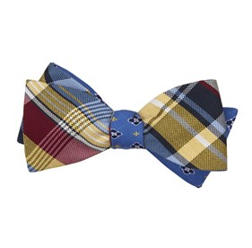 Yellow Plaid Harbor bow ties