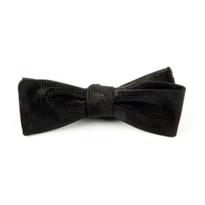 herringbone black bow ties