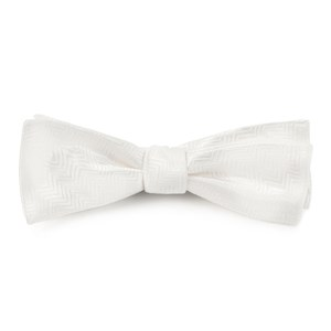 herringbone white bow ties