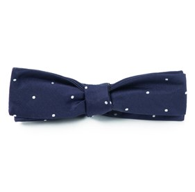 Satin Dot Classic Navy Bow Ties