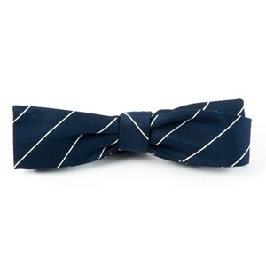 pencil pinstripe classic navy bow ties