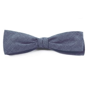 Warm Blue Classic Chambray bow ties
