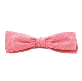 Red Classic Chambray bow ties