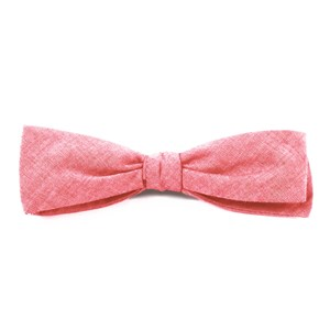 classic chambray red bow ties
