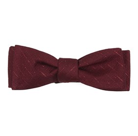Solid Trace Burgundy Bow Ties