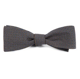 Navy The Tracy bow ties