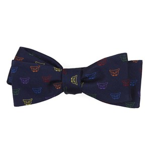 the signature: pride navy bow ties