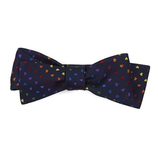 love is love navy bow ties