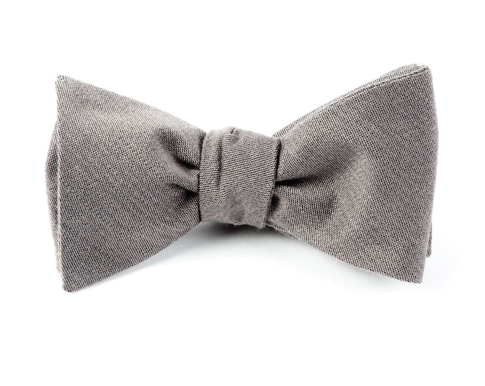 1d537a90e976 Grey Solid Wool Bow Tie | Men's Bow Ties | The Tie Bar