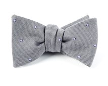 Bow Ties - WOOL DOTS - CHARCOAL