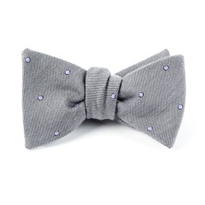 wool dots charcoal bow ties