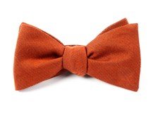 Bow Ties - SOLID WOOL - BURNT ORANGE