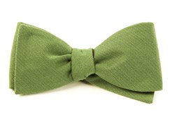 BOW TIES - SOLID WOOL - MOSS