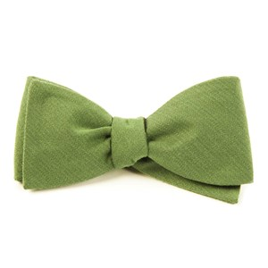 solid wool moss bow ties