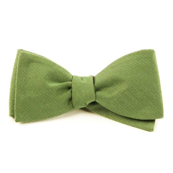 Moss Solid Wool Bow Tie