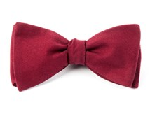 BOW TIES - SOLID WOOL - BURGUNDY
