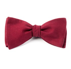Solid Wool Burgundy Bow Ties